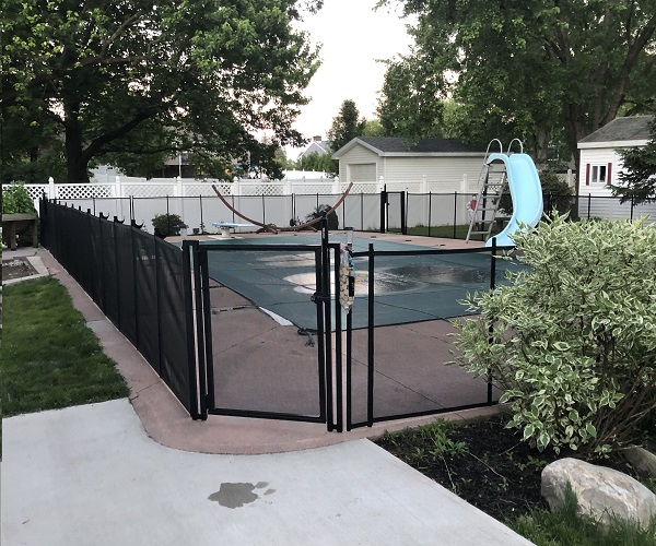 pool fence installed in a home in Albany, NY