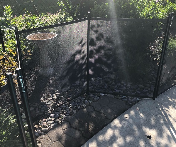 removable mesh pool fencing