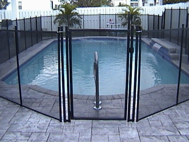 swimming pool safety gate