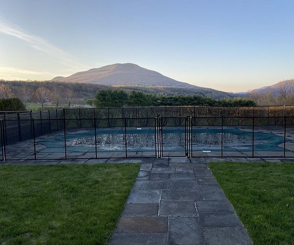 black mesh pool fence installed in Rutland, VT