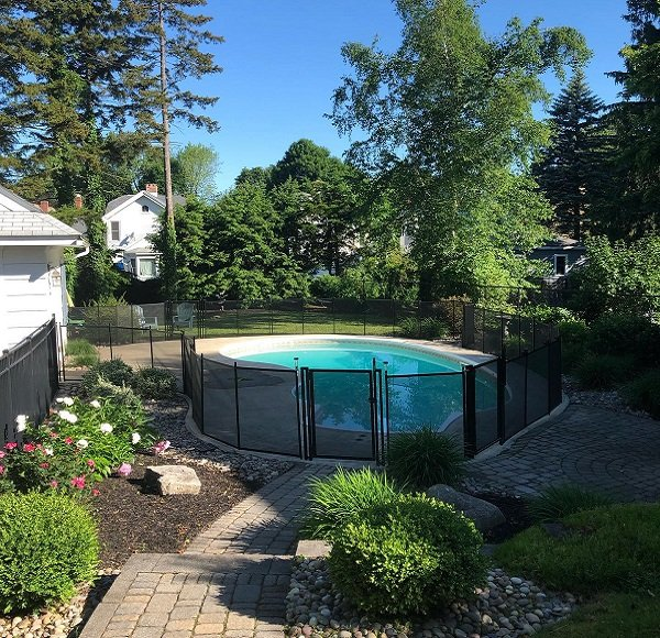 Life Saver mesh pool fence installed in Springfield, MA
